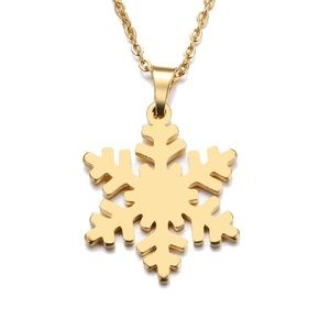 Jewelry - Snowflake Gold Stainless Steal necklace pendant